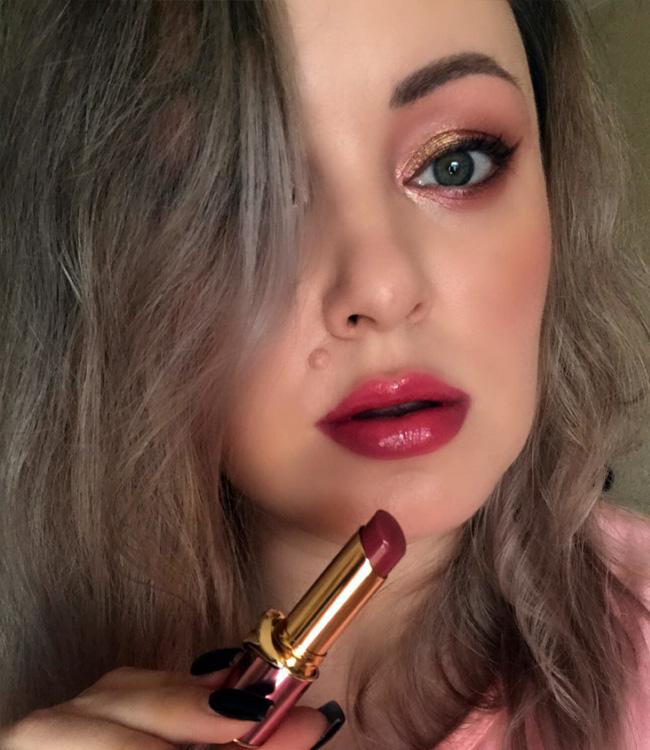 Pat McGrath Belle Amour Divinyl Lip Shine Makeup Look