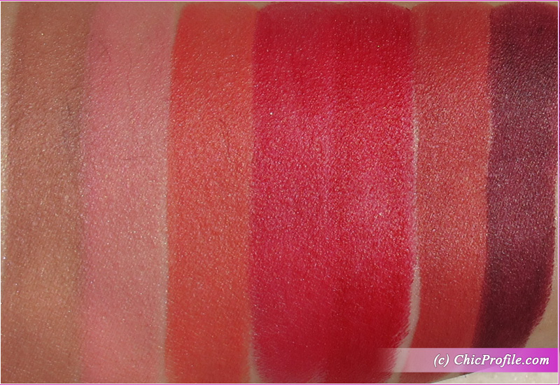 Rouge Bunny Rouge Full Colour Matt Lipsticks Swatches