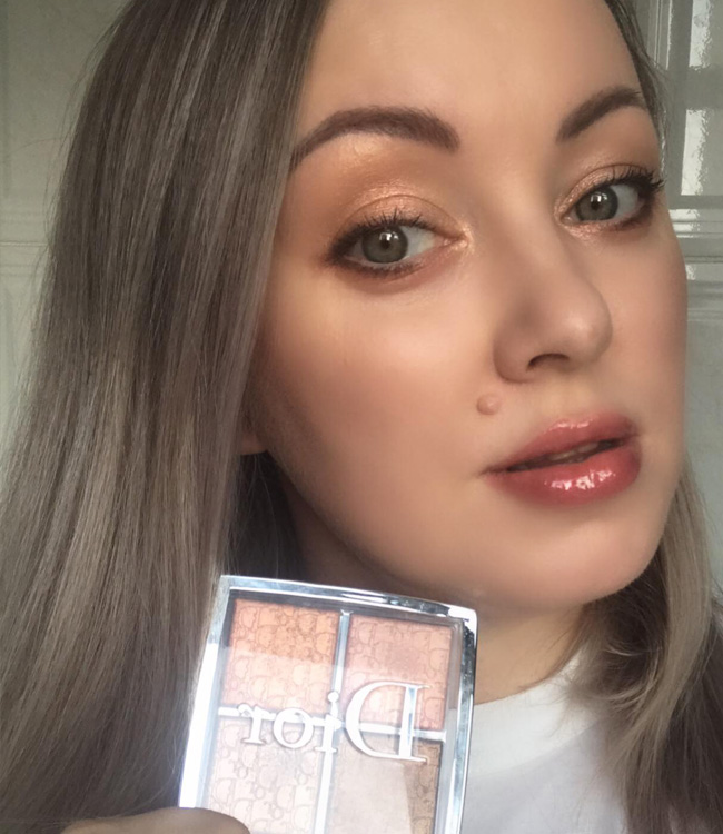Dior Backstage Copper Gold Glow Face Palette as Eyeshadow
