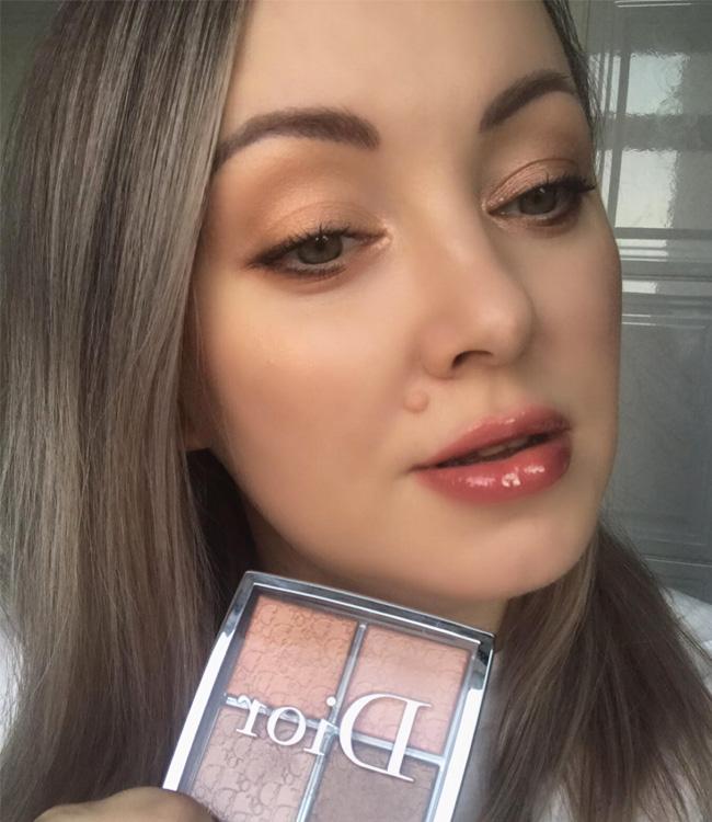 Dior Backstage Copper Gold Glow Face Palette Makeup Look