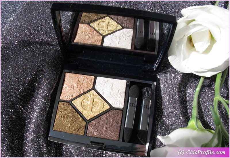 Dior Golden Nights (549) Golden Snow Eyeshadow Palette Open