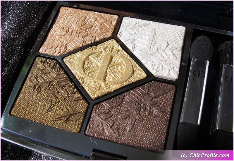 Dior Golden Nights (549) Golden Snow Eyeshadow Palette Pattern