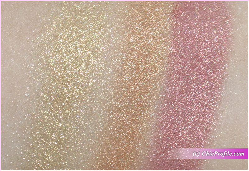 MAC Flashing Ice Extra Dimension Skinfinish Trio (Gold) Swatches