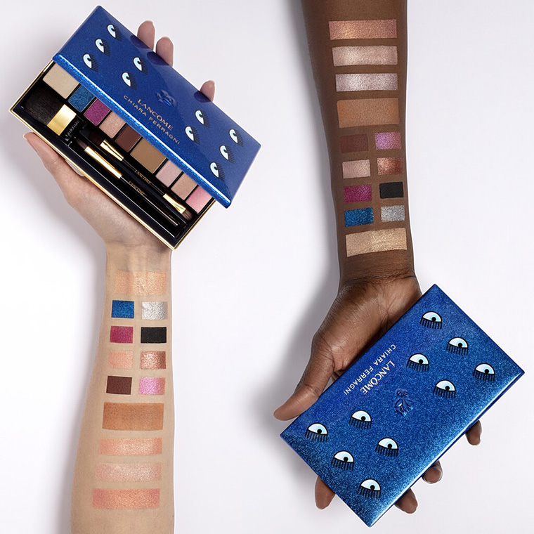 Lancome X Chiara Ferragni Eyeshadow Palette Swatches