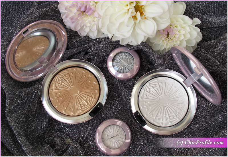 MAC Let It Glow and Flare for the Dramatic Extra Dimension Skinfinish and Eyeshadows