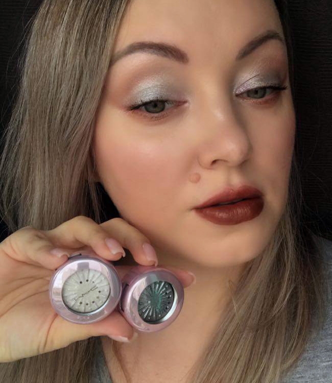 MAC Silver Bells & Cooler Than Being Cool Extra Dimension Foiled Eyeshadows Makeup