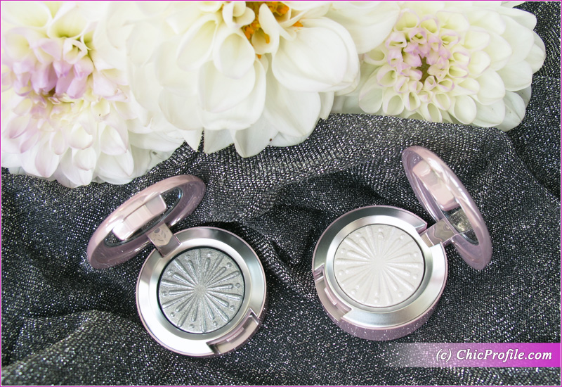 MAC Silver Bells & Cooler Than Being Cool Extra Dimension Foiled Eyeshadows Open