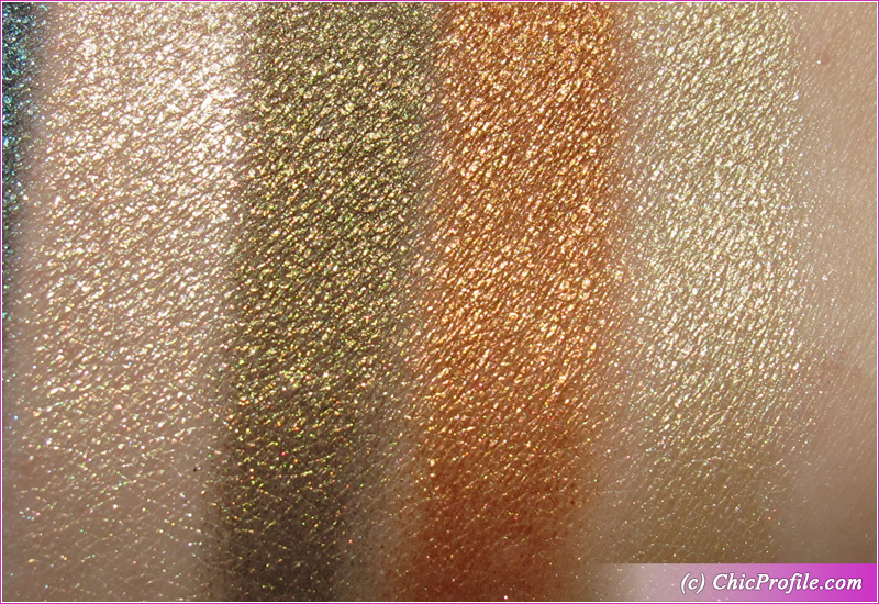 Makeup by Mario Master Metallics Eyeshadow Palette Swatches Second Row