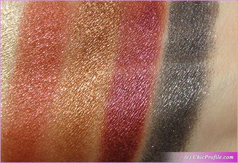 Makeup by Mario Master Metallics Eyeshadow Palette Swatches Third Row