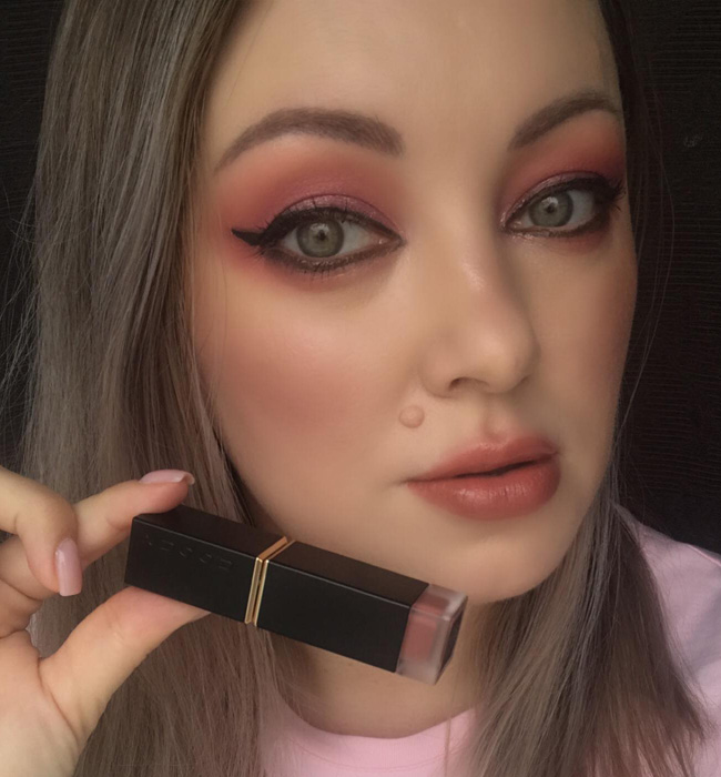 SUQQU Comfort Lip Fluid Fog 102 Makeup Look