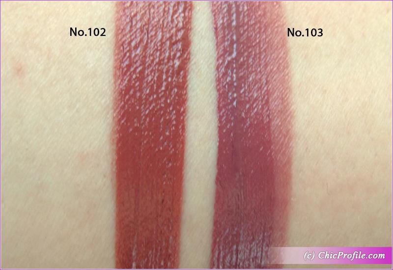 SUQQU Comfort Lip Fluid Fog 102 & 103 Pre-Holiday 2020 Swatches