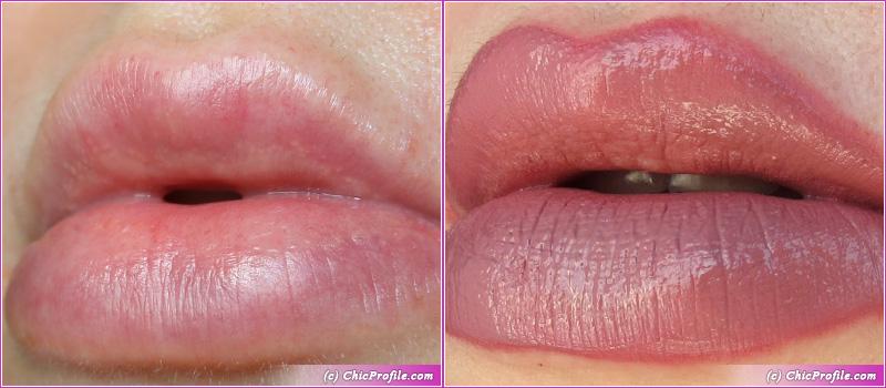 SUQQU Comfort Lip Fluid Fog 103 Lip Swatches