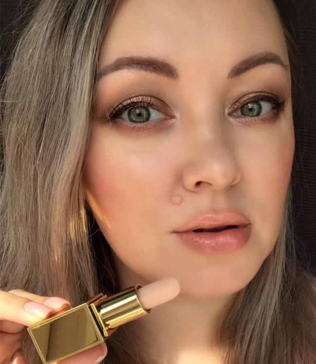 Tom Ford Balm Frost Makeup Look