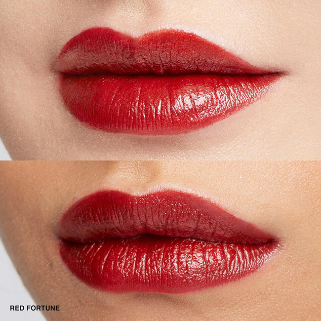 Luxe Metal Lipstick Red Fortune Lip Swatch