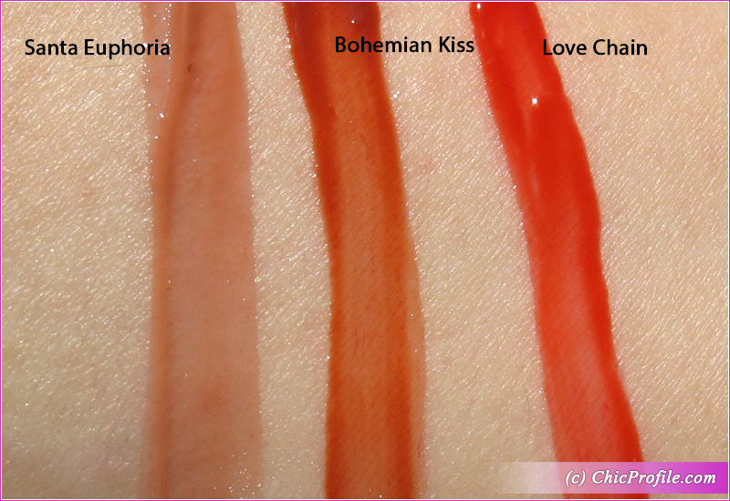 Charlotte Tilbury Tinted Love Lip & Cheek Tints Swatches