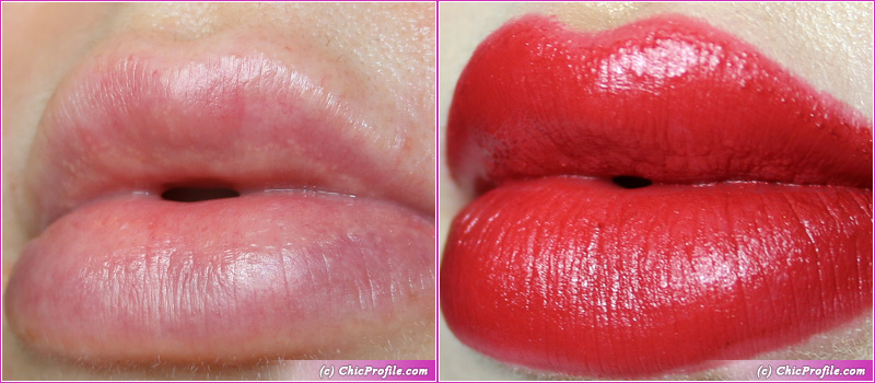 L'Absolu Rouge Intimatte (888) Kind of Sexy Lip Swatches