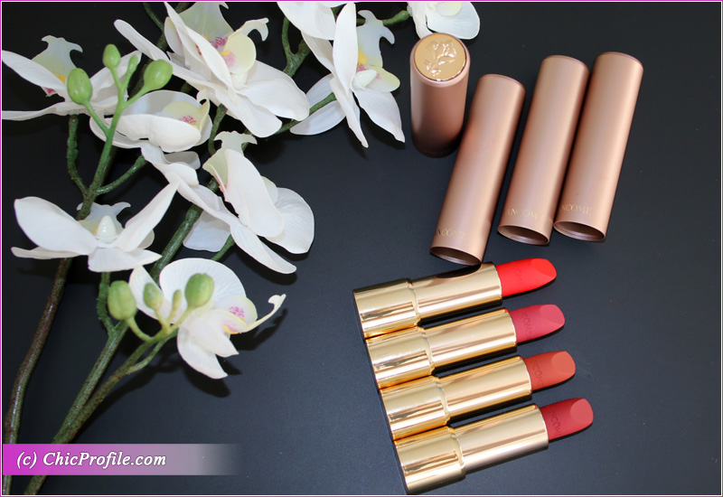 Lancome L'Absolu Rouge Intimatte Lipsticks