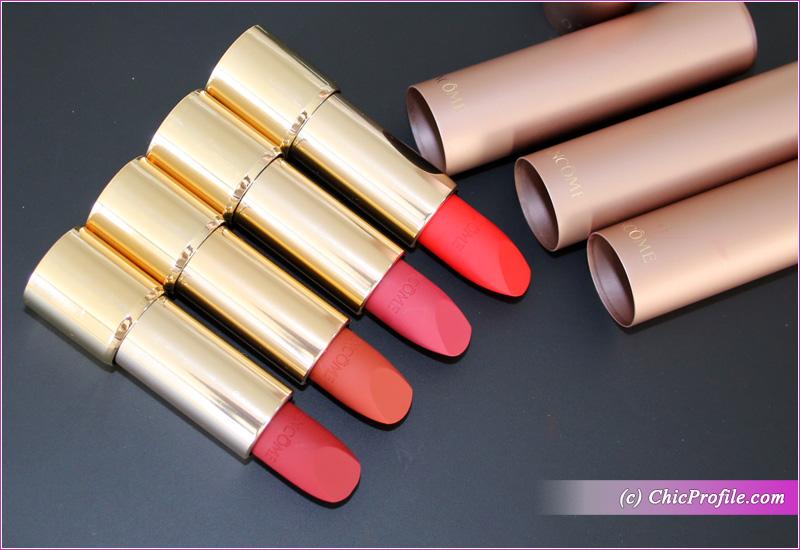 Lancome L'Absolu Rouge Intimatte Lipsticks Details