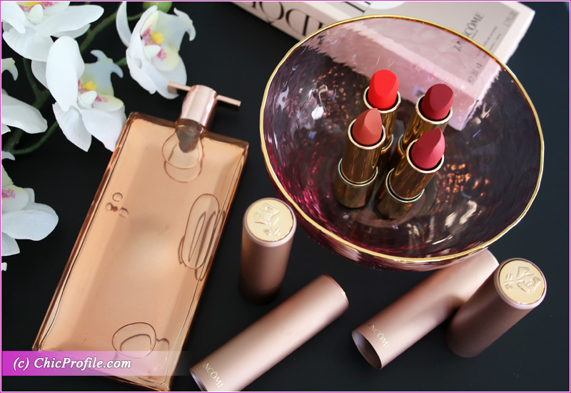 Lancome L'Absolu Rouge Intimatte Lipsticks Packaging