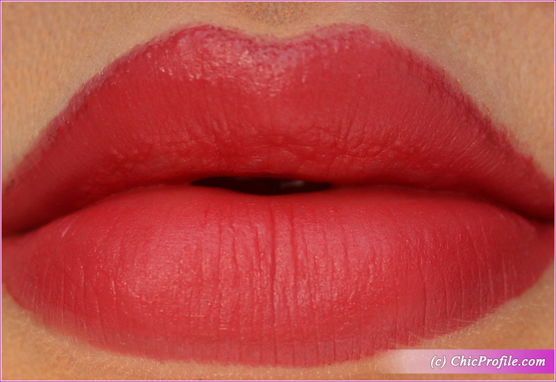 L'Absolu Rouge Intimatte (282) Very French Lip Swatch