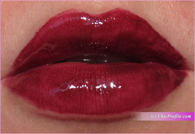 NARS Mississippi Vinyl Lip Lacquer Lip Swatch