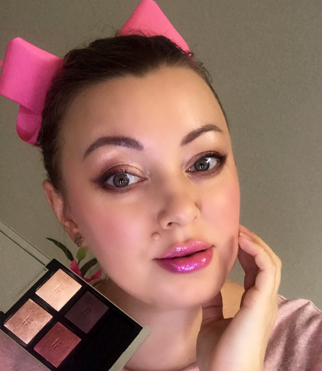 Tom Ford Mercurial Eye Quad Extreme Makeup Pink Lips