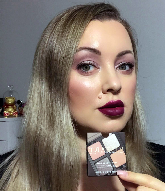 Viseart Lilas Petits Fours Palette Makeup and Plum Lips