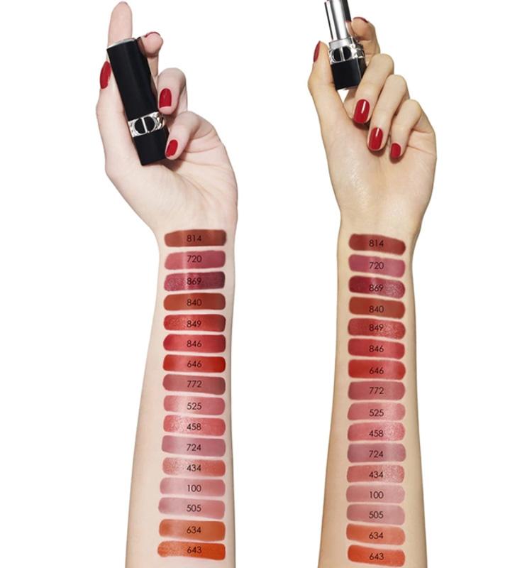 Dior Rouge Dior Reimagined Lipsticks Swatches