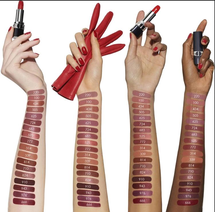 Dior Rouge Dior Reimagined Lipsticks Hand Swatches