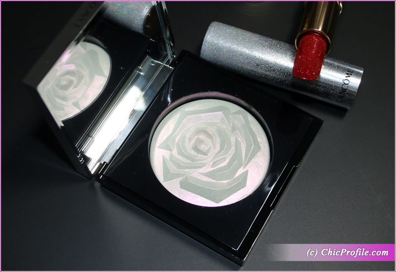 Lancome La Rose Face Highlighter Open
