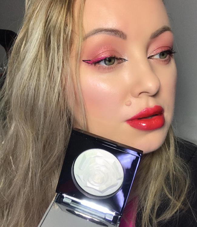 Lancome La Rose Face Highlighter Glow Makeup