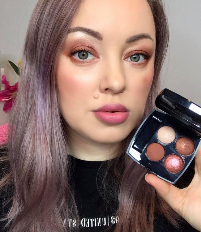 Chanel Bouquet Ambre (372) Les 4 Ombres Multi-Effect Quadra Eyeshadow Makeup Look