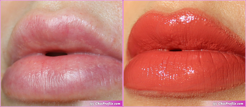 Hermes Rose Epice Satin Lipstick Lip Swatches