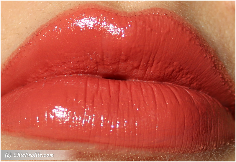 Hermes Rose Epice Satin Lipstick Lip Swatch