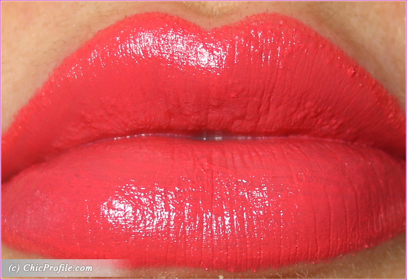 Hermes Rose Satin Lipstick Lip Swatch