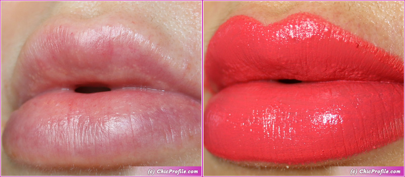 Hermes Rose Satin Lipstick Lip Swatches